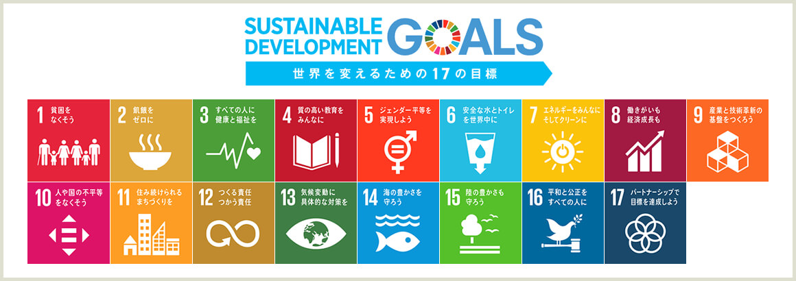 SUSTAINABLE DEVELOPMANT GOALS|世界を変えるための17の目標